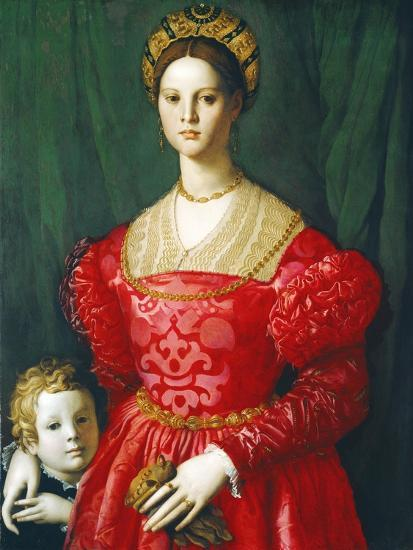 A Young Woman and Her Little Boy, C.1540-Agnolo Bronzino-Giclee Print