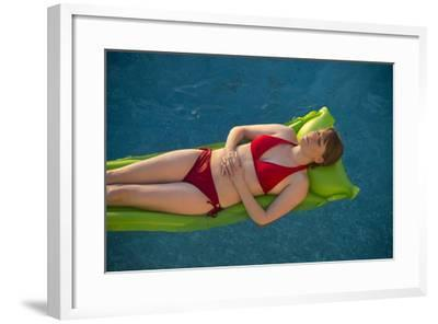 A Young Woman in a Swimming Pool on Virginia Beach, Virginia-Joel Sartore-Framed Photographic Print