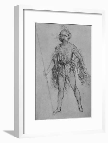 'A Youth with a Lance', c1480 (1945)-Leonardo da Vinci-Framed Giclee Print