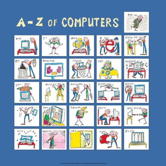 A - Z of Computers-Nicola Streeten-Art Print