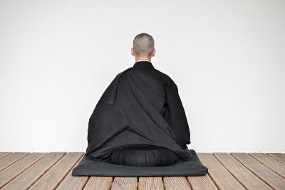 A Zen Buddhist Nun Is Practicing Zen-Meditation (Zazen)--Photographic Print