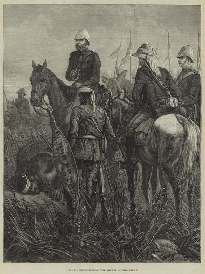 A Zulu Guide Listening for Sounds of the Enemy--Giclee Print