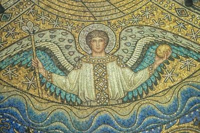 Aachen Cathedral, Mosaic of Arch Angel, Aachen, Germany-Jim Engelbrecht-Photographic Print