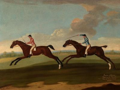 Aaron and Driver Running the Second Heat at Maidenhead, 1754-Richard Roper-Giclee Print