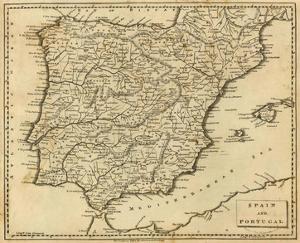Spain, Portugal, c.1812 by Aaron Arrowsmith