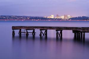 Calm Night on Lake Washington by Aaron Eakin