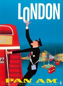 London, England - Double Decker Buses, Bovril and Schweppe - Pan American World Airways by Aaron Fine
