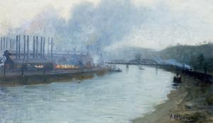 Industrial Scene, Pittsburgh by Aaron Henry Gorson