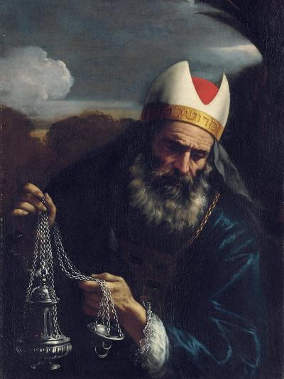 Aaron, High Priest of the Israelites, Holding a Censer-Pier Francesco Mola-Giclee Print
