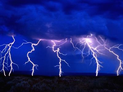 Lightning Storm over Prairie by Aaron Horowitz