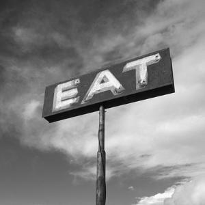 """Vintage """"Eat"""" Restaurant Sign by Aaron Horowitz"""