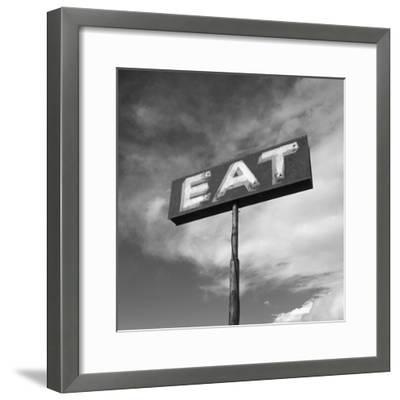 """Vintage """"Eat"""" Restaurant Sign"""