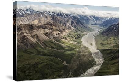 Aerial View of a Flowing River in Denali National Park and Preserve