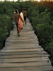 Boardwalk to Surf from Cabinas Las Olas, Avellanas Beach, Guanacaste State, Northwest, Costa Rica by Aaron McCoy