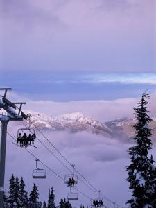 Chair Lift in the Early Morning, 2010 Winter Olympic Games Site, Whistler, British Columbia, Canada by Aaron McCoy