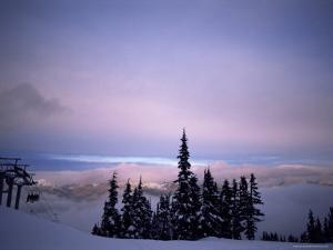 Chair Lift in the Early Morning, Whistler, British Columbia, Canada, North America by Aaron McCoy
