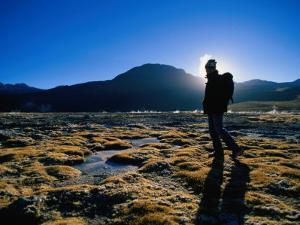 Hiker in Silhouette Near San Pedro De Atacama, San Pedro De Atacama, Chile by Aaron McCoy