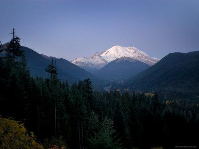 Mt. Rainier at Dawn, Washington State, USA