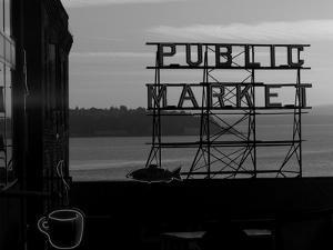 Pike Place Market and Puget Sound, Seattle, Washington State by Aaron McCoy