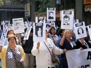 Protest by Mothers of the Missing (Desaparasidos), Chile, South America by Aaron McCoy