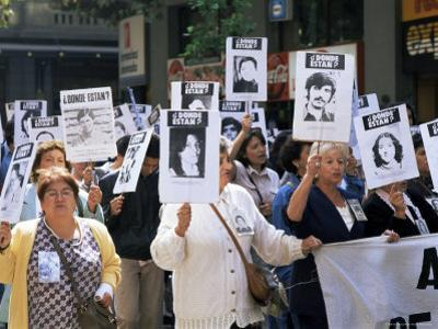 Protest by Mothers of the Missing (Desaparasidos), Chile, South America