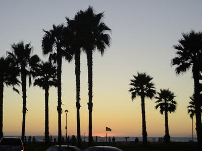 Sunset at Hermosa Beach, Los Angeles County, California, United States of America, North America