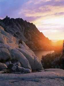 Sunset Over Granite Rock and Alpine Lakes, Goat Rocks, Cascades, Washington State, USA by Aaron McCoy