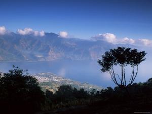 View from the San Pedro Volcano of San Pedro and Lago Atitlan (Lake Atitlan), Guatemala by Aaron McCoy