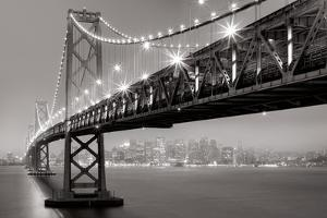 Bay Bridge at Night by Aaron Reed