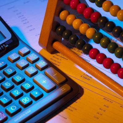 Abacus And Calculator-Mark Sykes-Photographic Print