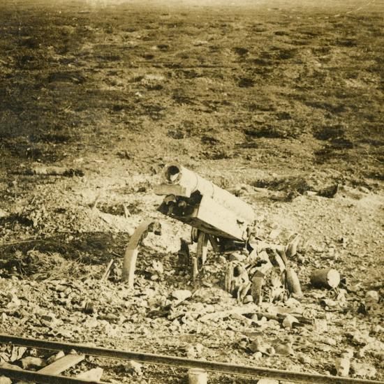 Abandoned 155 gun, c1914-c1918-Unknown-Photographic Print