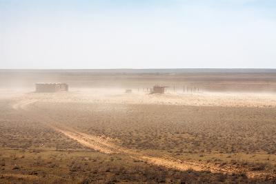 Abandoned Barn in the Desert-dmitriyGo-Photographic Print
