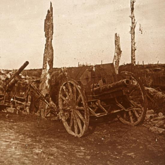 Abandoned cannons, c1914-c1918-Unknown-Photographic Print