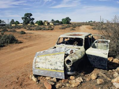 Abandoned Car Wreck, Silverton, Australian Outback, New South Wales, Australia, Pacific-Ann & Steve Toon-Photographic Print