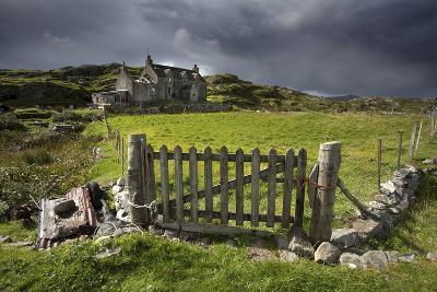 Abandoned Croft Beneath a Stormy Sky-Lee Frost-Photographic Print
