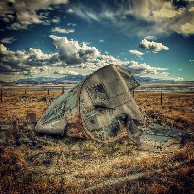 Abandoned Decaying Caravan-Florian Raymann-Photographic Print