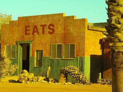 Abandoned Desert Eatery, Sloan, Nevada, USA-Nancy & Steve Ross-Photographic Print