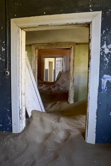 Abandoned House Full of Sand. Kolmanskop Ghost Town, Namib Desert Namibia, October 2013-Enrique Lopez-Tapia-Photographic Print