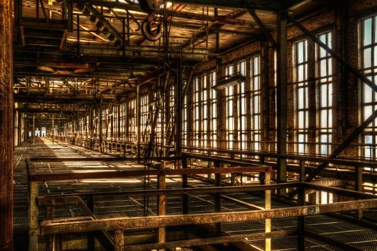 Abandoned Power Plant Interior-Nathan Wright-Photographic Print