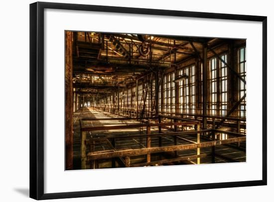 Abandoned Power Plant Interior-Nathan Wright-Framed Photographic Print