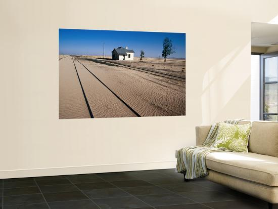 Abandoned Railway Station in Namib Desert Between Aus and Luderitz-Karl Lehmann-Wall Mural