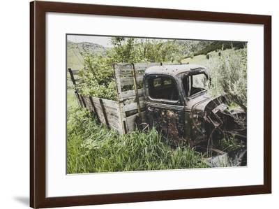 Abandoned Truck Near The Eagles Rise Trail, Mantua Reservoir, Utah-Louis Arevalo-Framed Photographic Print