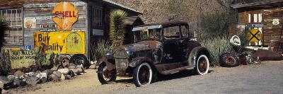 Abandoned Vintage Car at the Roadside, Route 66, Arizona, USA--Photographic Print
