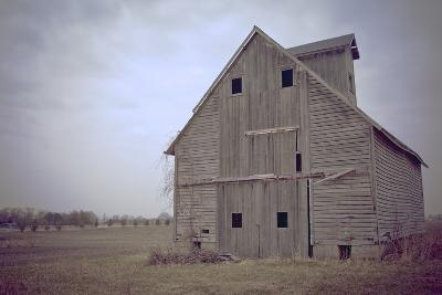 Abandoned Wooden Barn, Joliet, Illinois Route 66-Julien McRoberts-Photographic Print