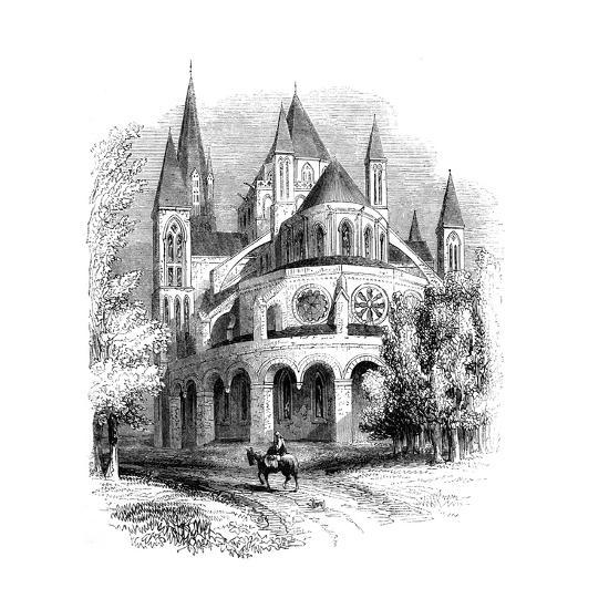 Abbaye Aux Hommes, Caen, Normandy, France--Giclee Print