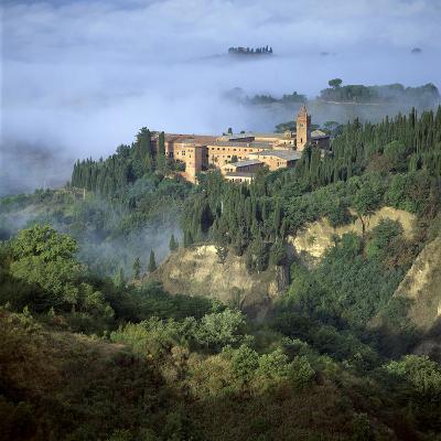Abbazia Di Monte, Oliveto Maggiore, Tuscany, Italy-Joe Cornish-Photographic Print