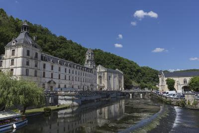Abbey by the River Dronne, Brantome, Dordogne, Aquitaine, France, Europe-Jean Brooks-Photographic Print
