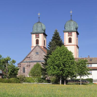 Abbey Chuch, Spring, St. Maergen, Glottertal Valley, Black Forest, Baden Wurttemberg, Germany-Markus Lange-Photographic Print