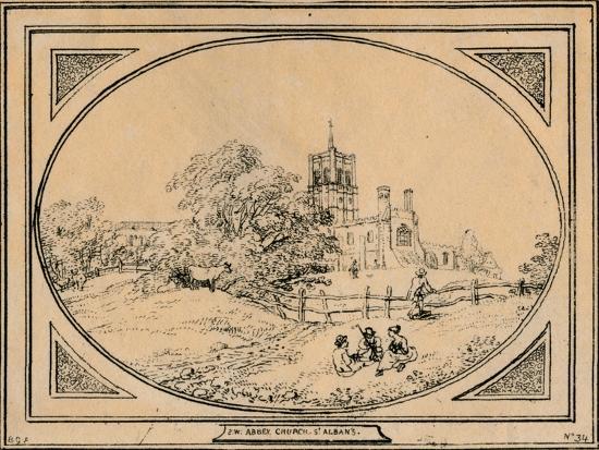 'Abbey Church, St. Albans', 1782-Unknown-Giclee Print