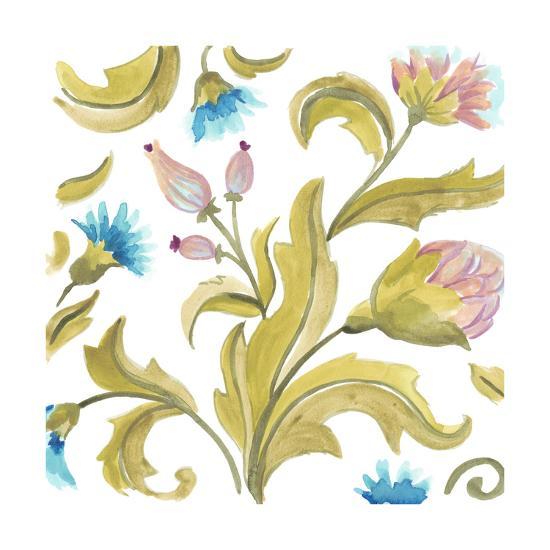 Abbey Floral Tiles IX-June Erica Vess-Art Print